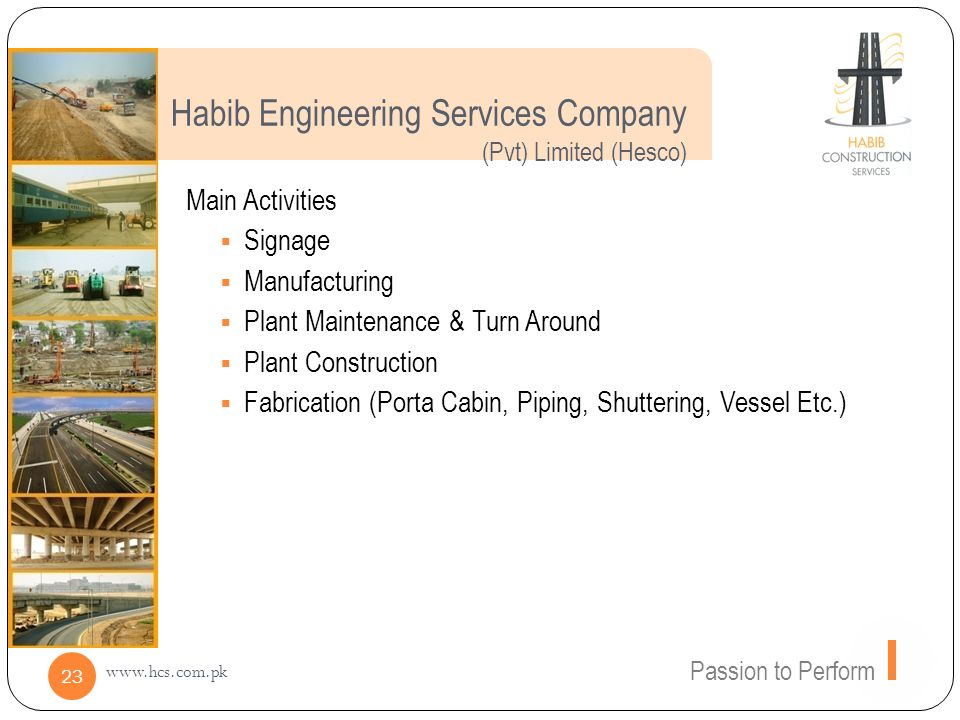 Habib Engineering Services Company (Pvt) Limited (Hesco)