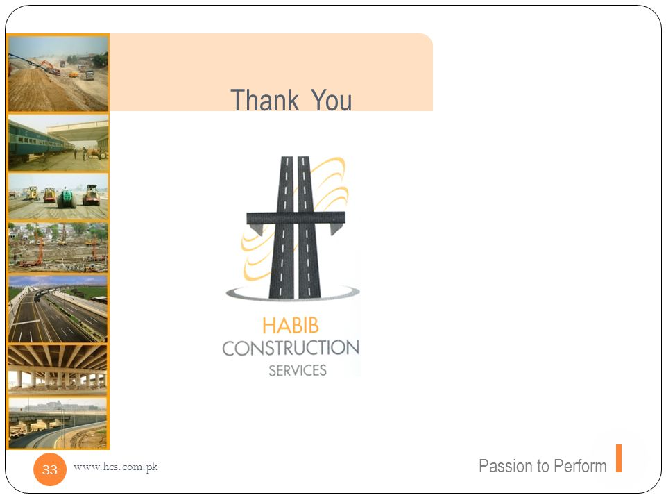 Thank You Passion to Perform www.hcs.com.pk