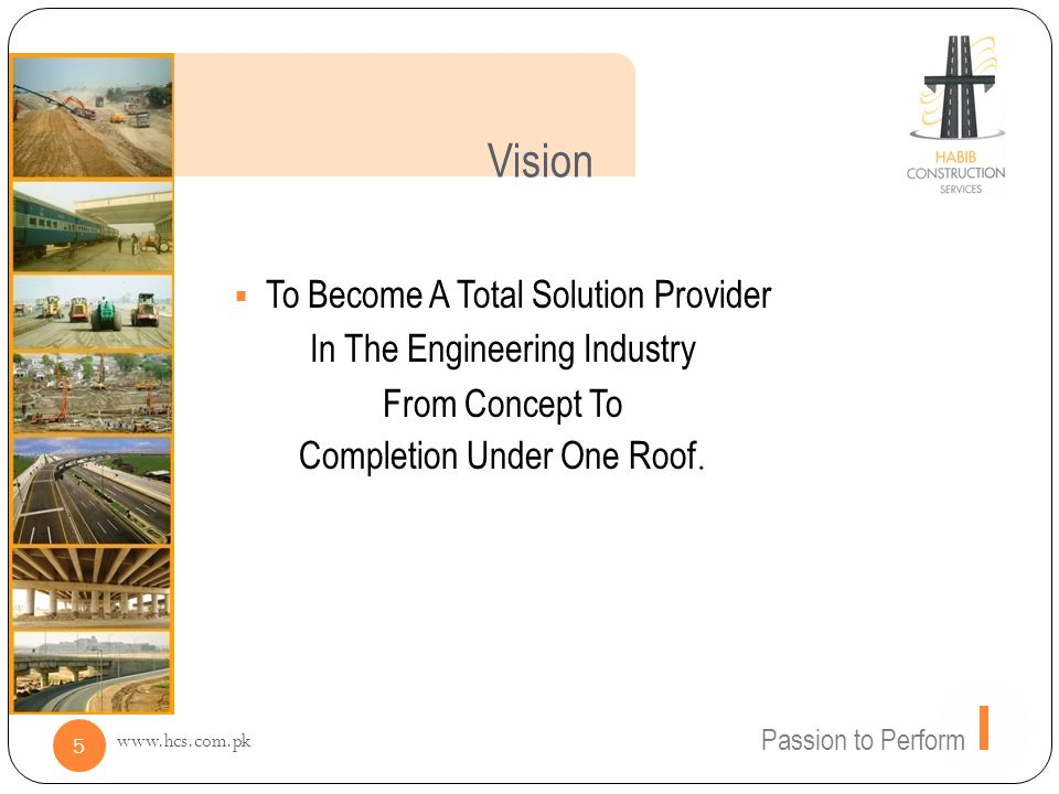 Vision To Become A Total Solution Provider In The Engineering Industry