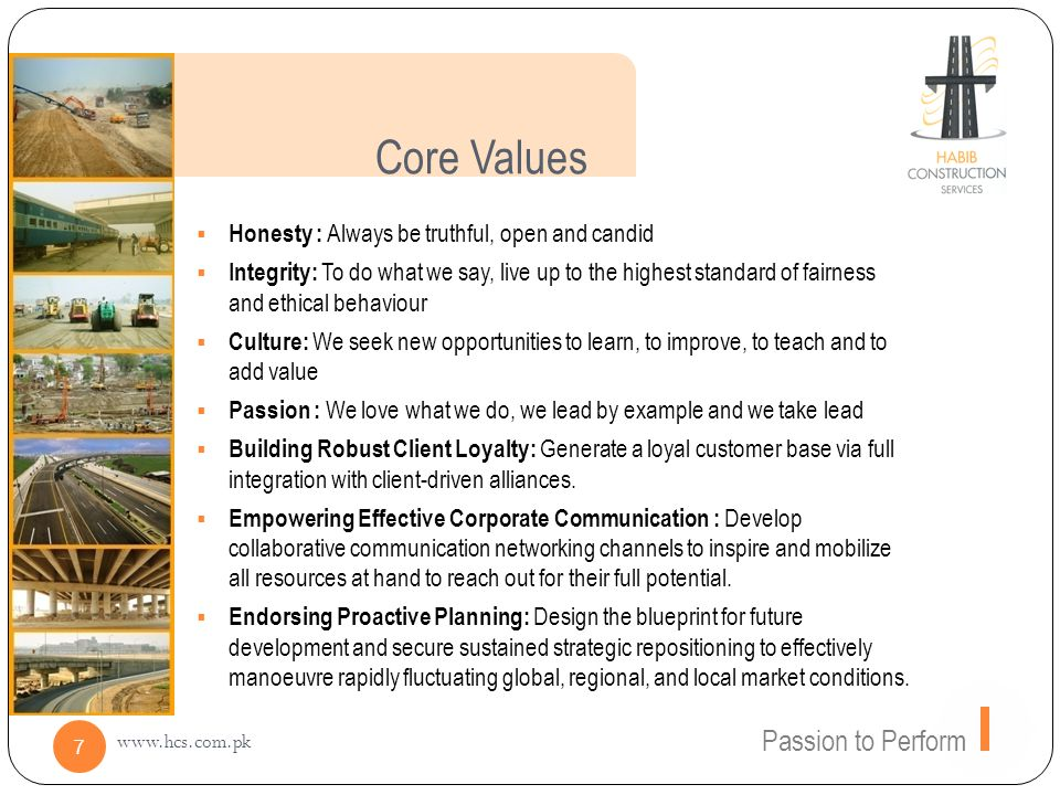 Core Values Passion to Perform