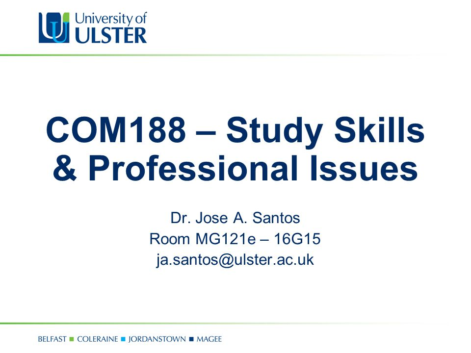 COM188 – Study Skills & Professional Issues