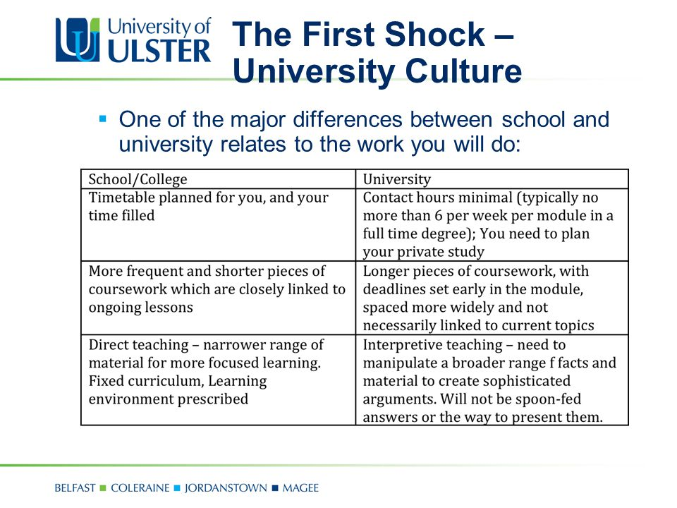 The First Shock – University Culture