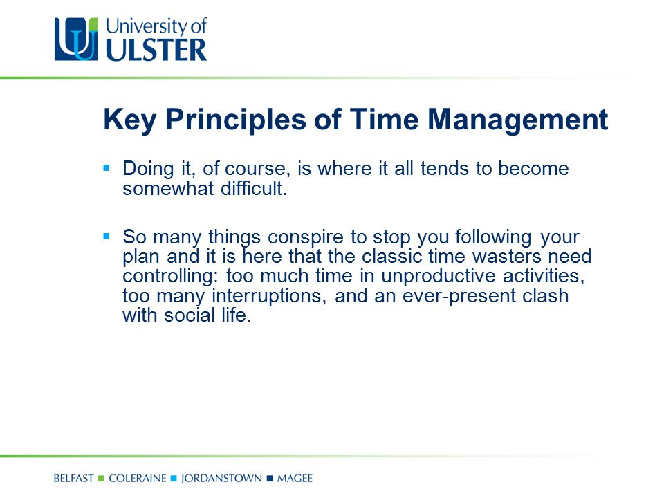 Key Principles of Time Management