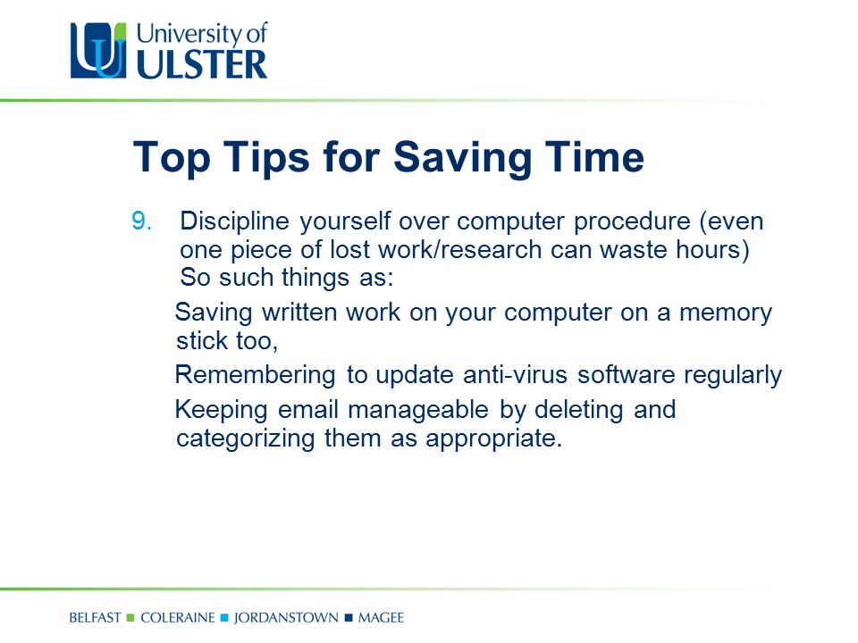 Top Tips for Saving Time