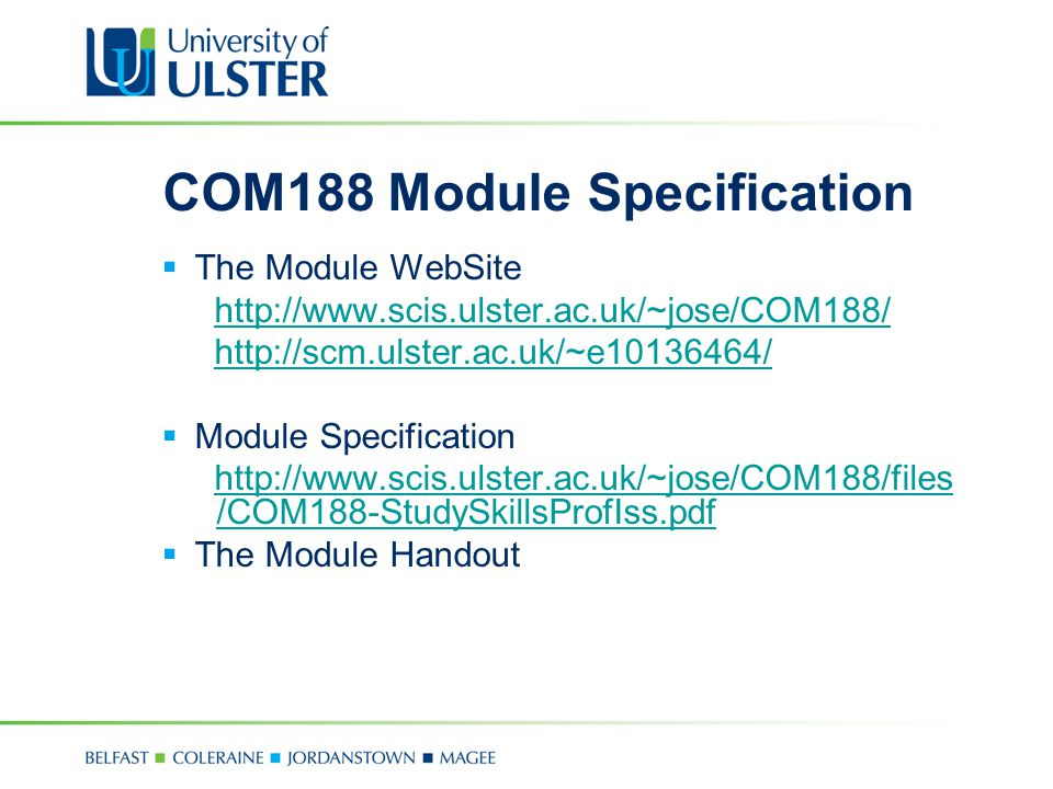 COM188 Module Specification