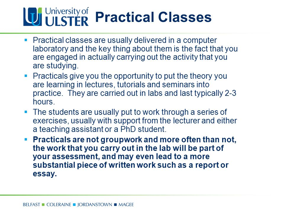 Practical Classes
