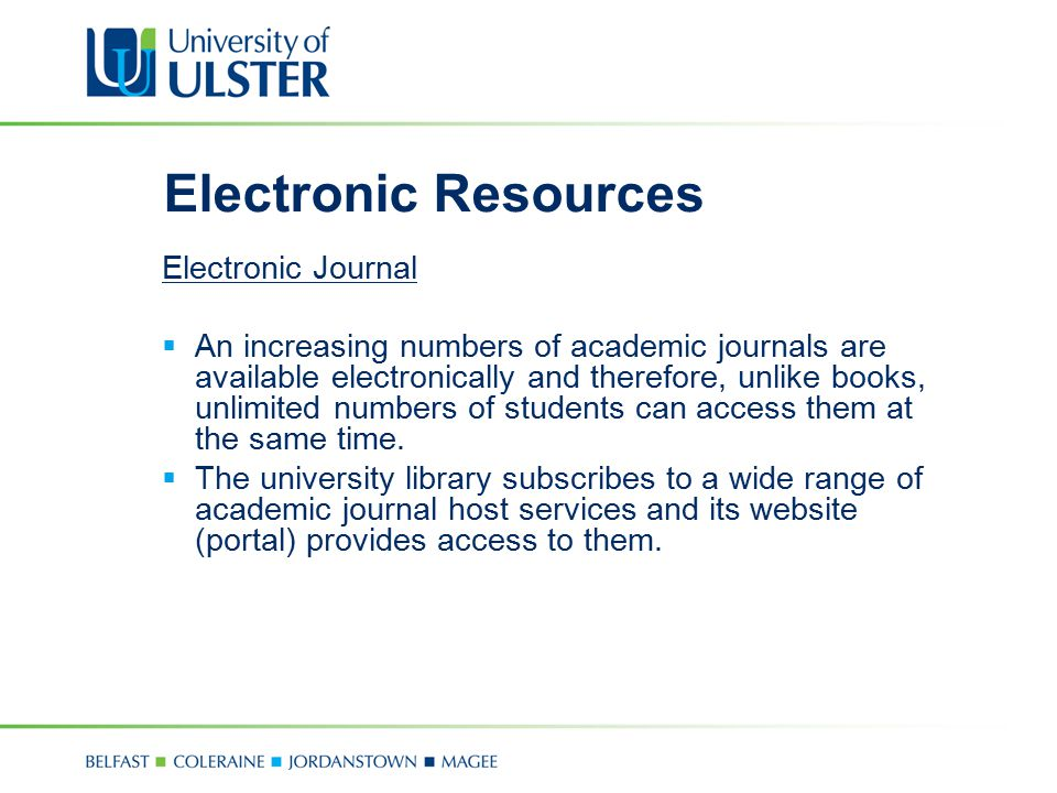 Electronic Resources Electronic Journal