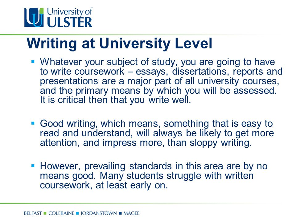 Writing at University Level
