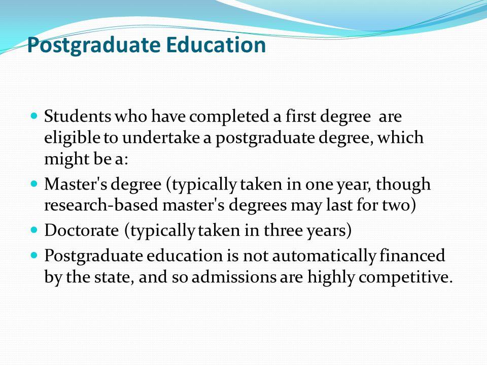 Postgraduate Education