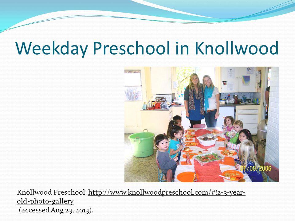 Weekday Preschool in Knollwood