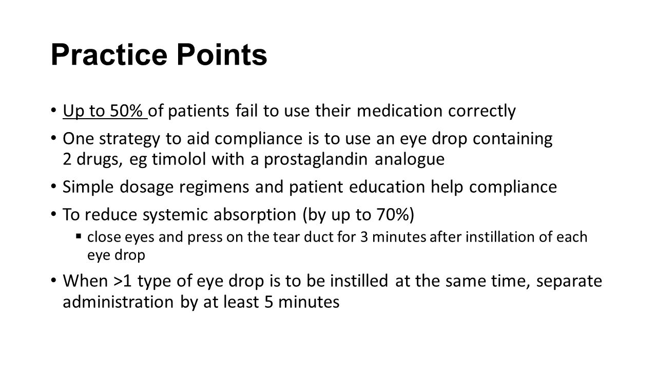 Practice Points Up to 50% of patients fail to use their medication correctly.