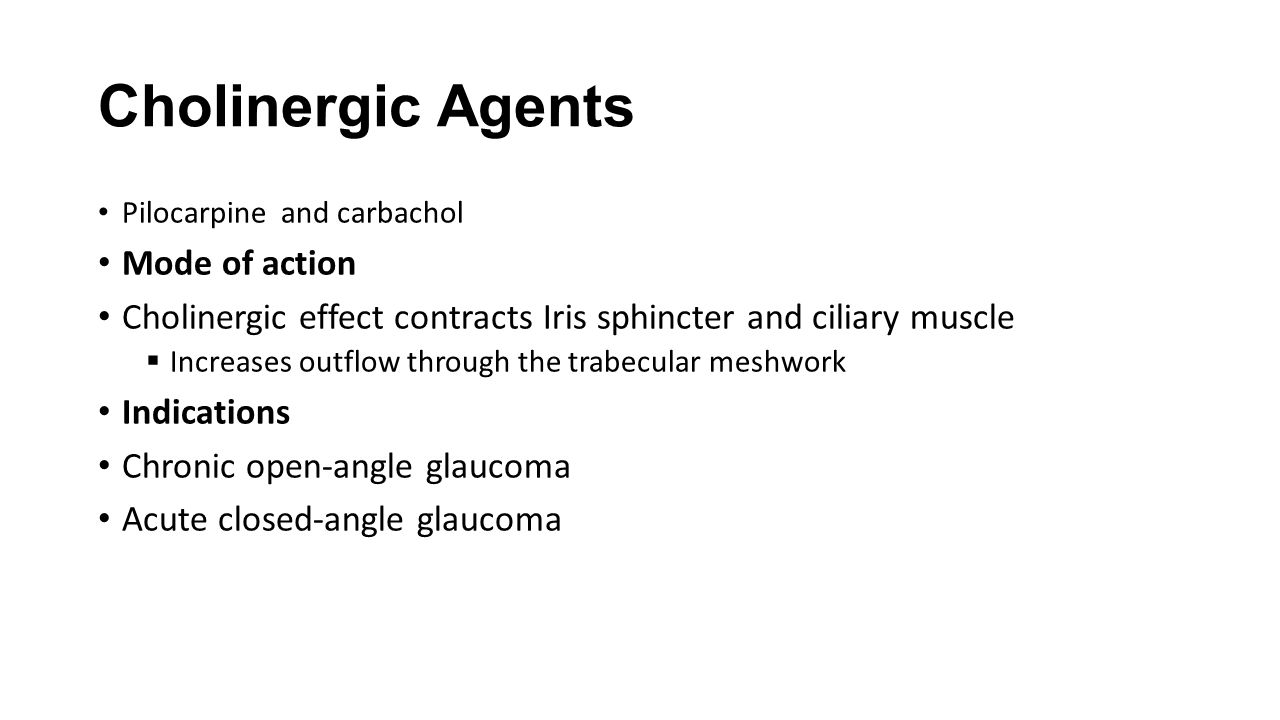 Cholinergic Agents Mode of action