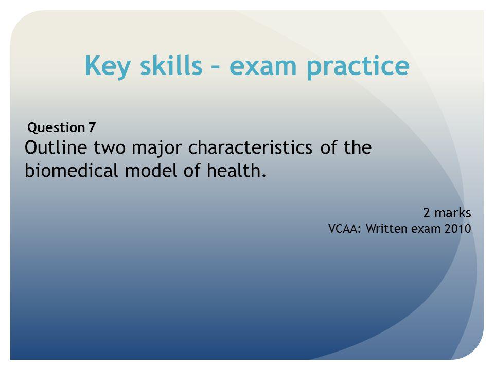 Key skills – exam practice