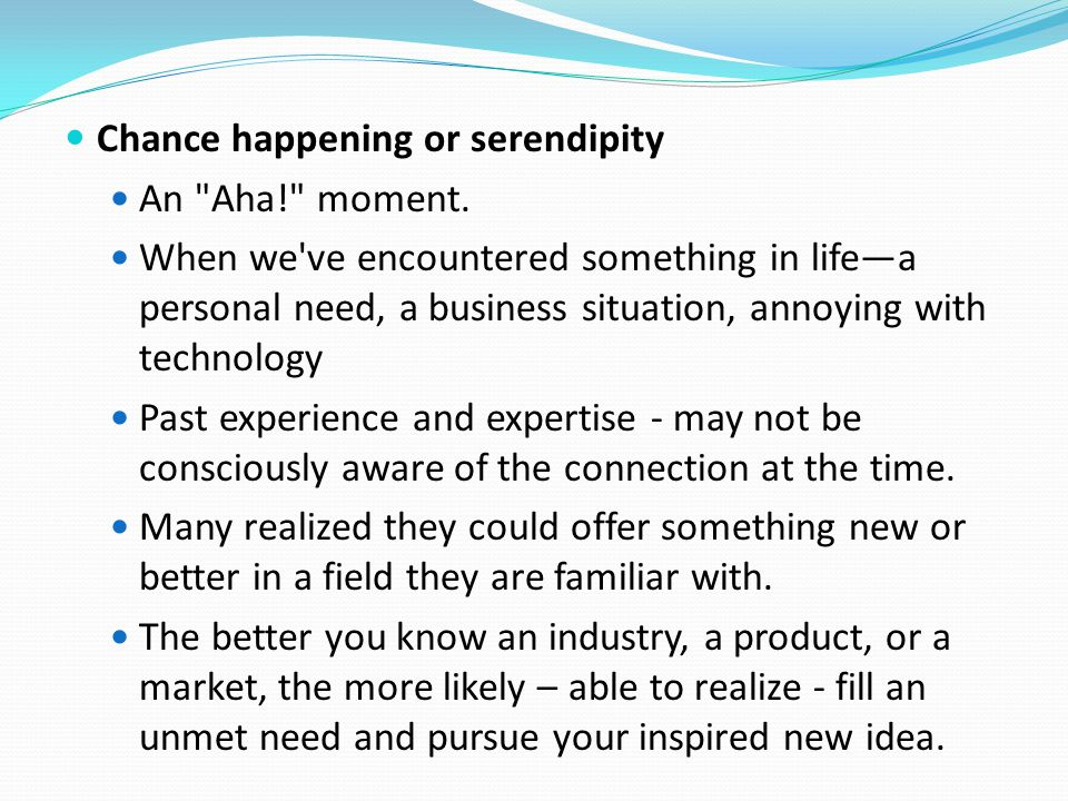 Chance happening or serendipity