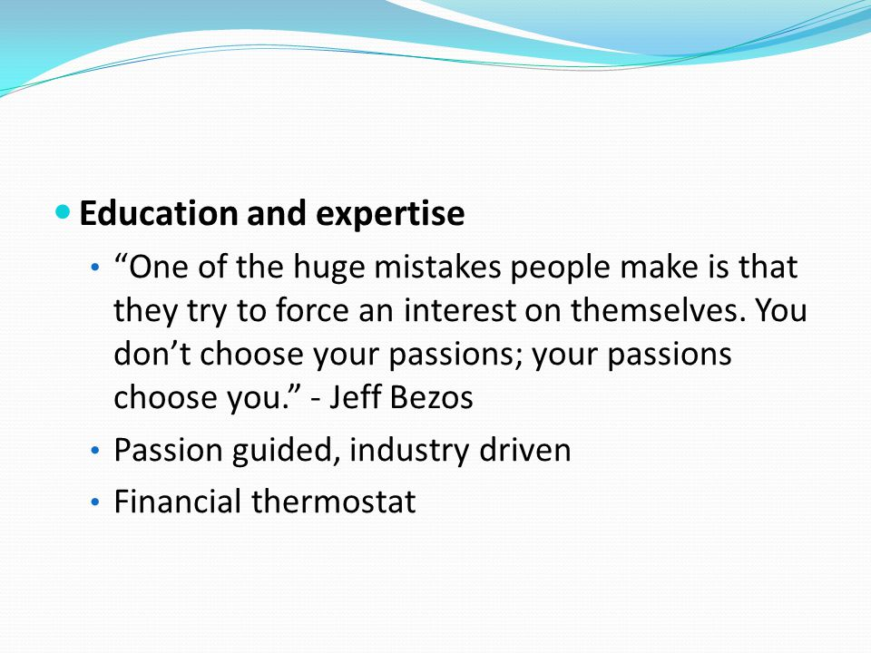 Education and expertise