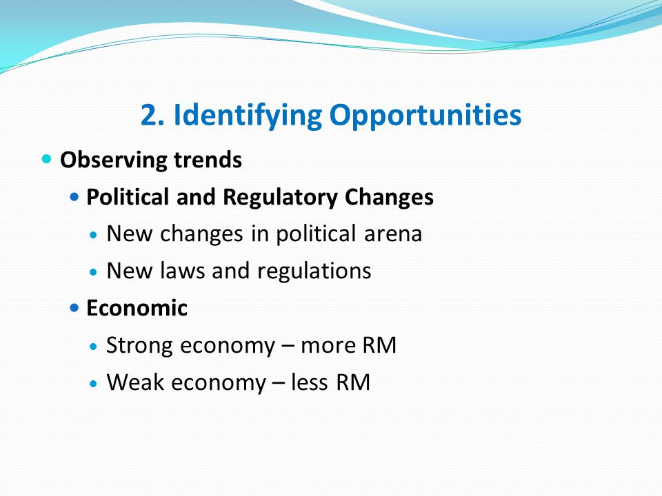 2. Identifying Opportunities