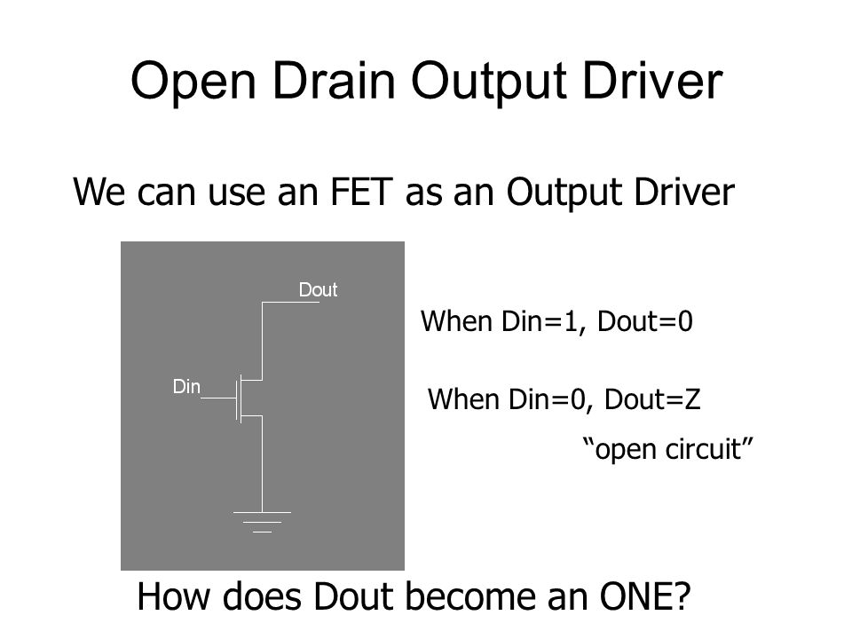 Open Drain Output Driver