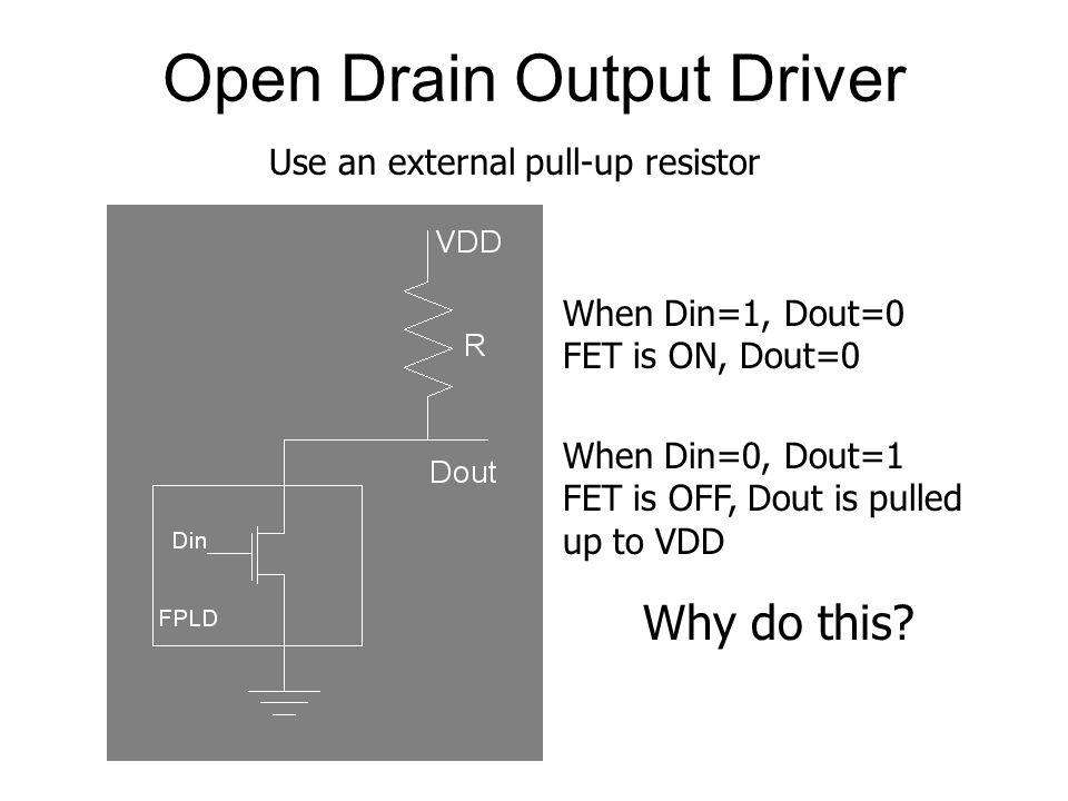 Open Drain Output Driver