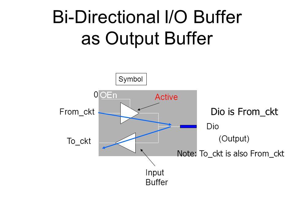 Bi-Directional I/O Buffer as Output Buffer