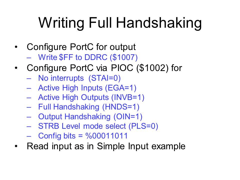 Writing Full Handshaking