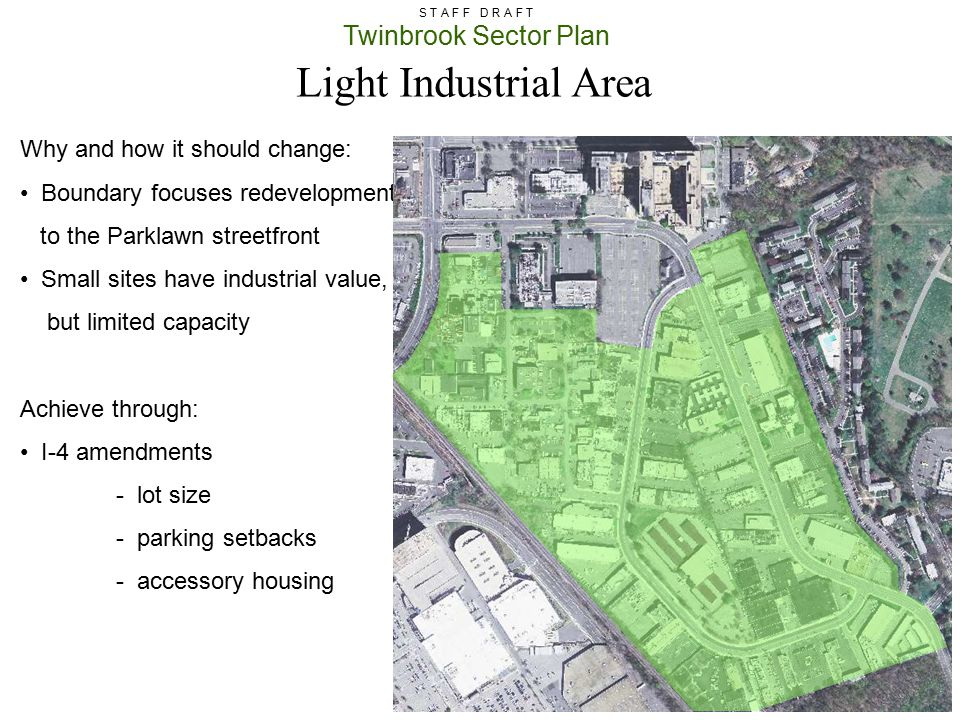 Light Industrial Area Why and how it should change: