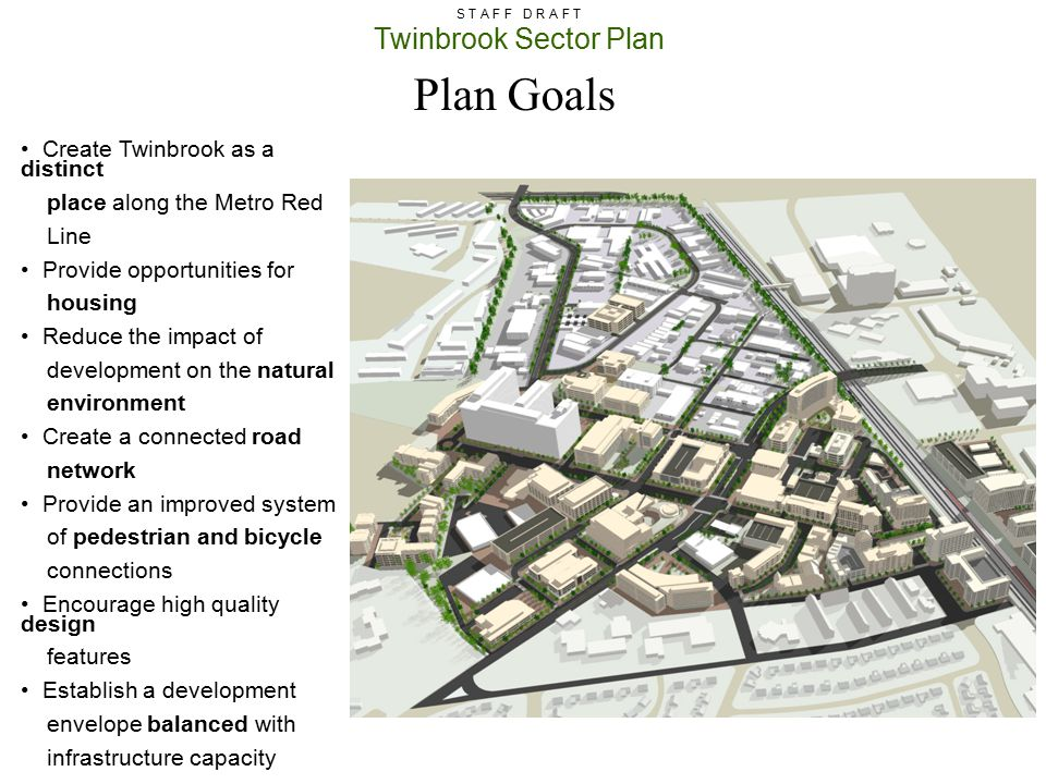 Plan Goals Create Twinbrook as a distinct place along the Metro Red