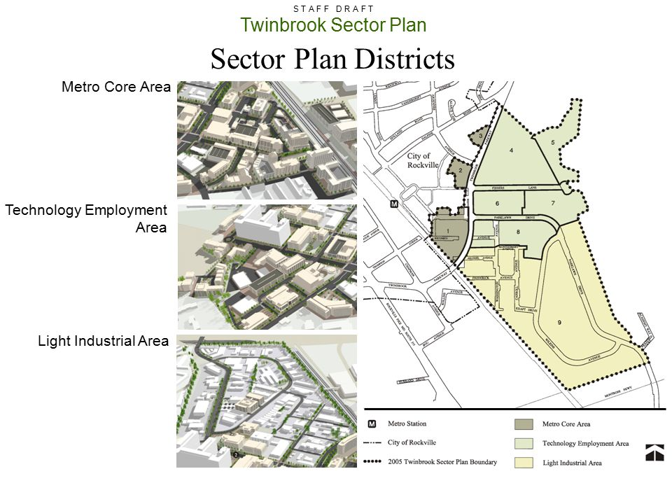 Sector Plan Districts Metro Core Area Technology Employment Area