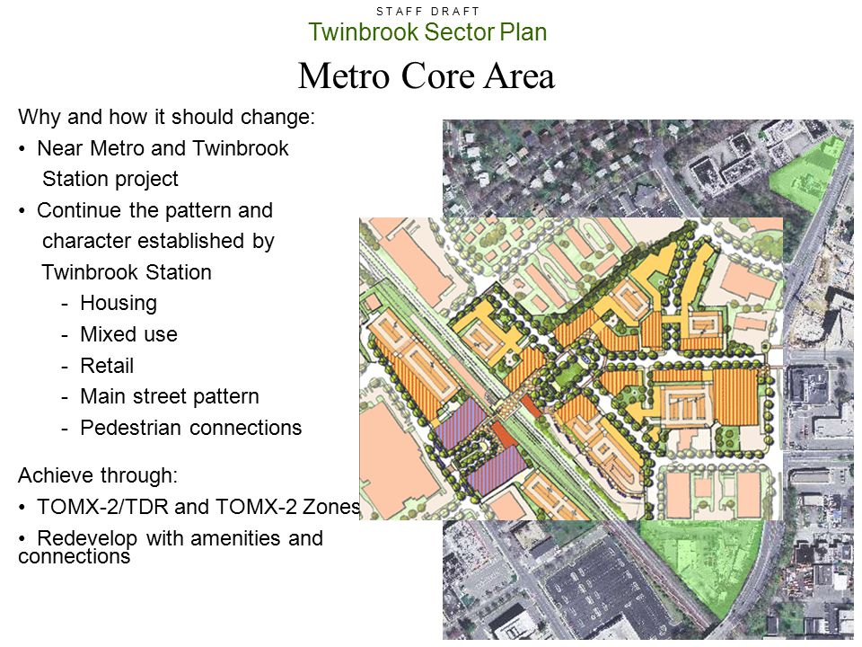 Metro Core Area Why and how it should change: Near Metro and Twinbrook