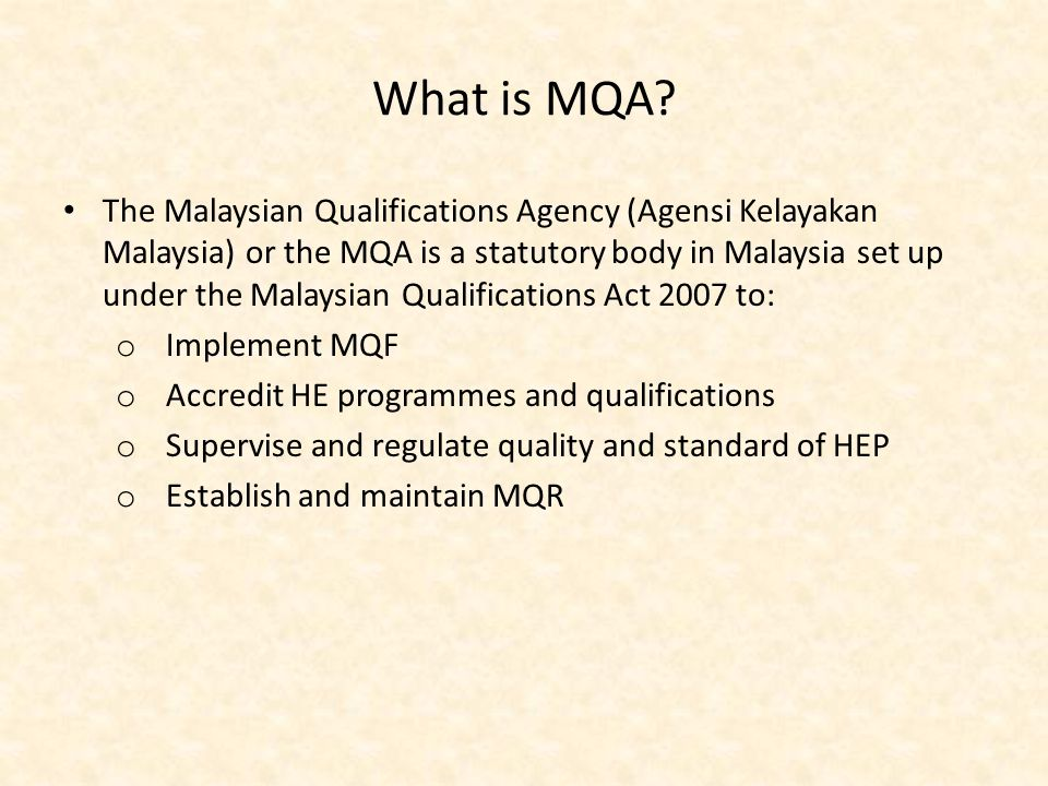 What is MQA