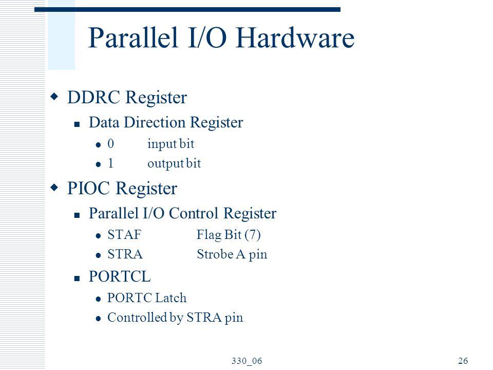 Parallel I/O Hardware DDRC Register PIOC Register