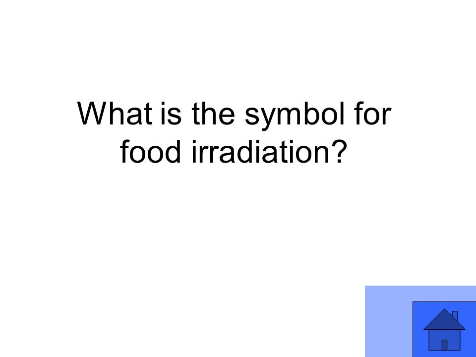 What is the symbol for food irradiation
