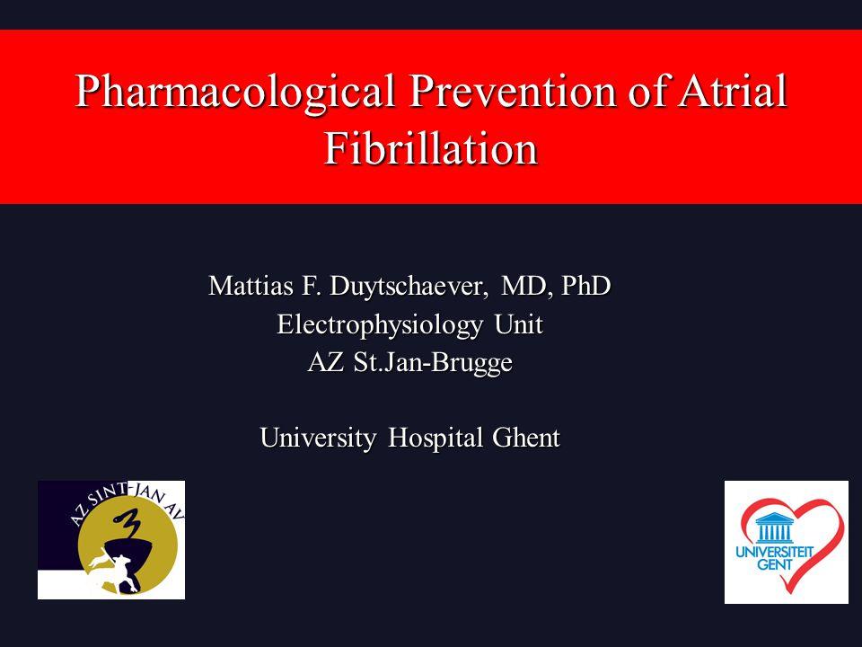 Pharmacological Prevention of Atrial Fibrillation