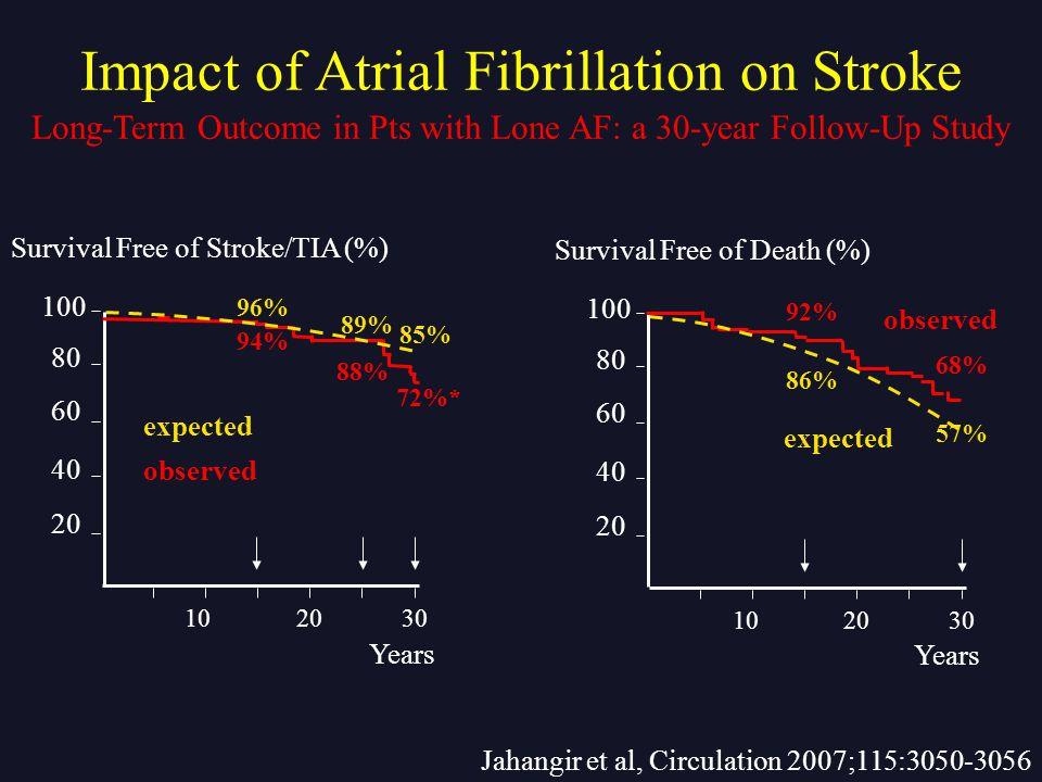 Impact of Atrial Fibrillation on Stroke