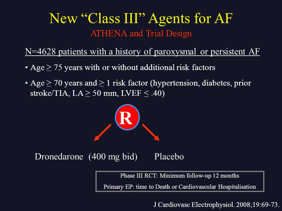 R New Class III Agents for AF ATHENA and Trial Design
