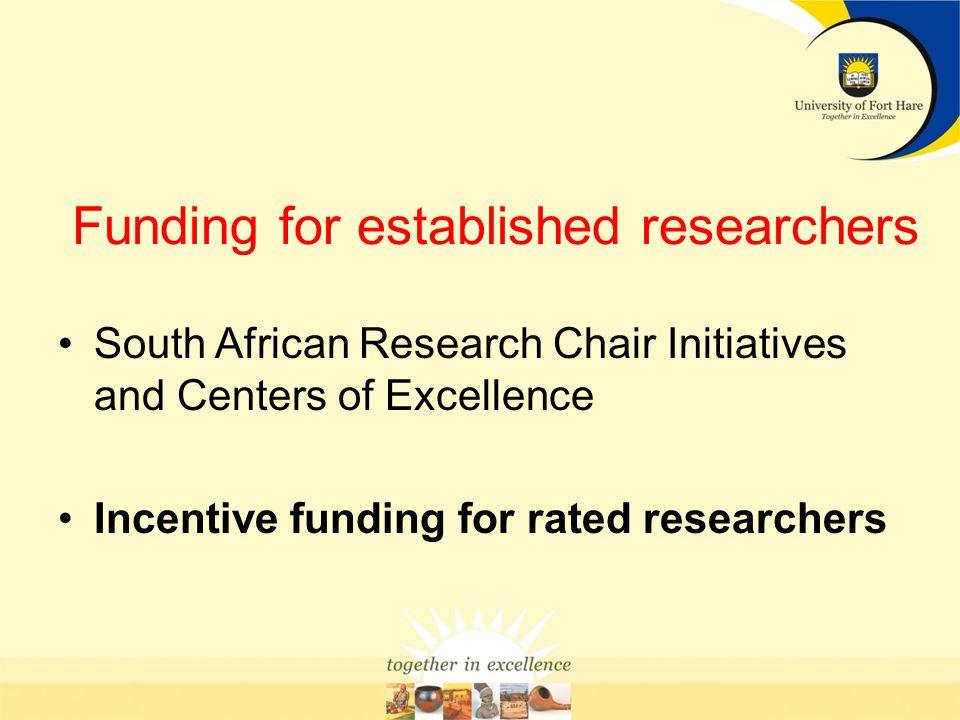Funding for established researchers
