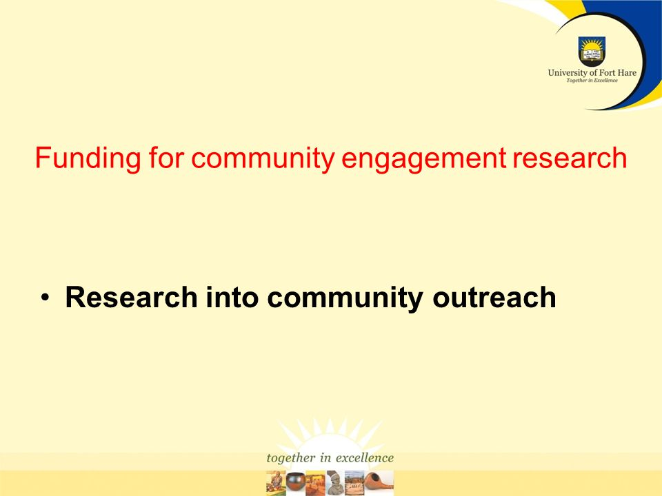 Funding for community engagement research
