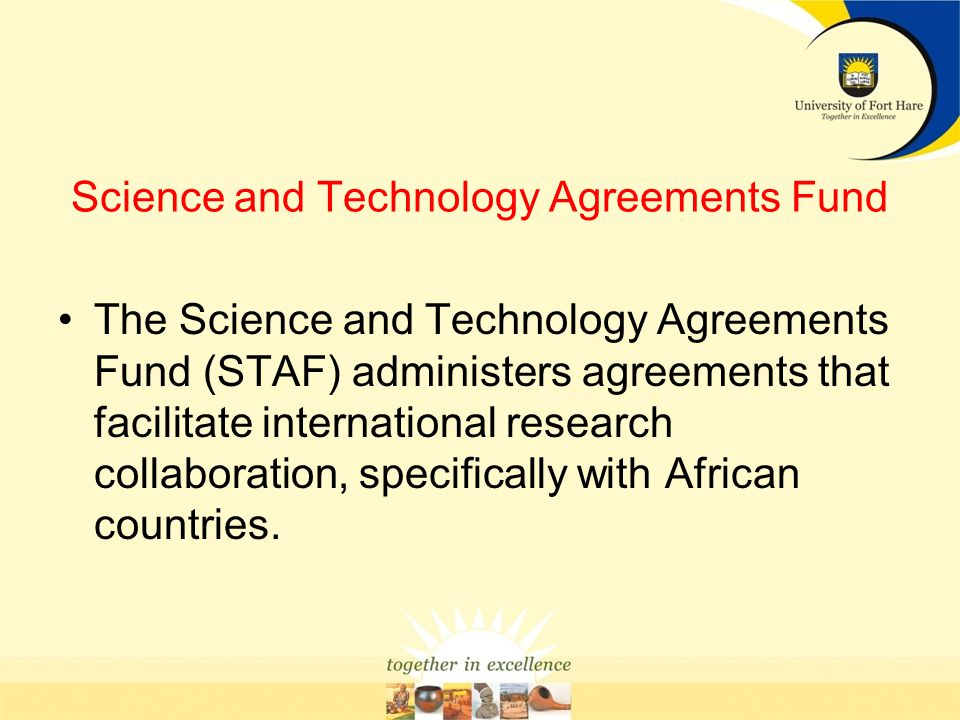 Science and Technology Agreements Fund