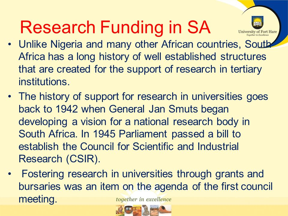 Research Funding in SA