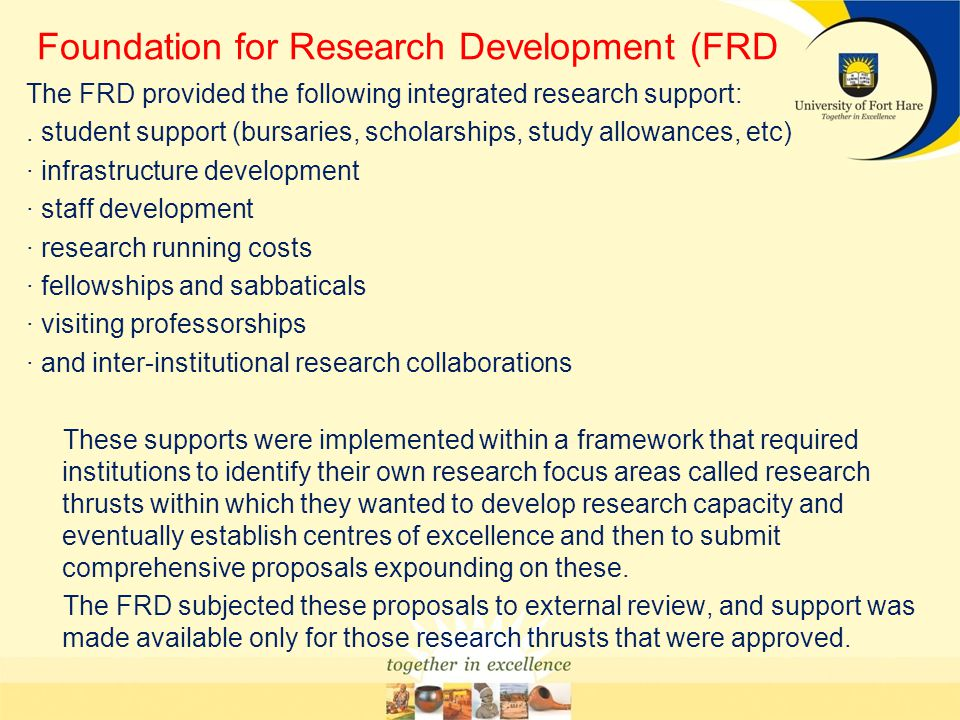 Foundation for Research Development (FRD