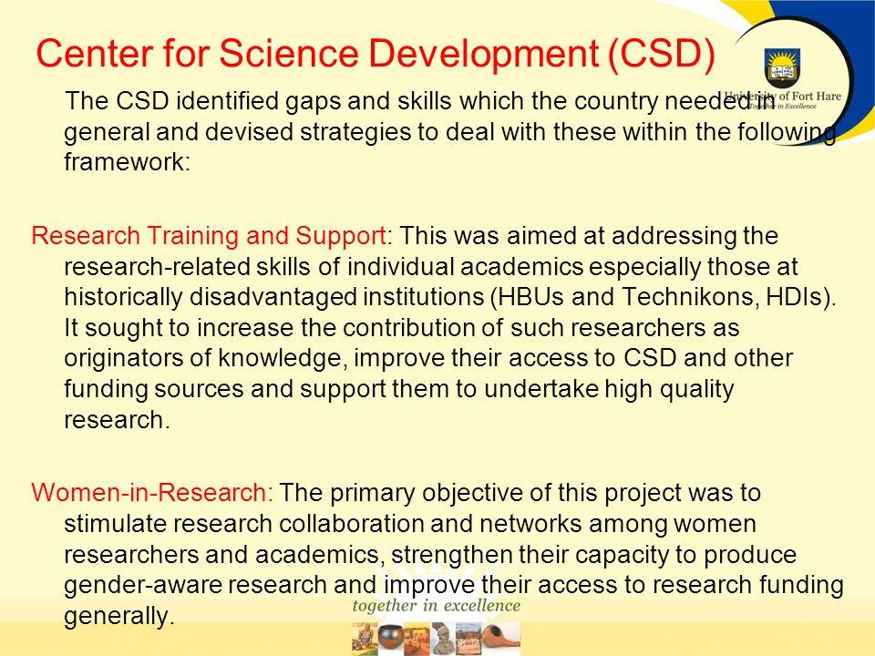 Center for Science Development (CSD)