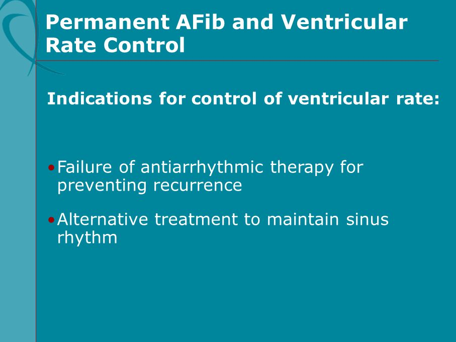 Permanent AFib and Ventricular Rate Control