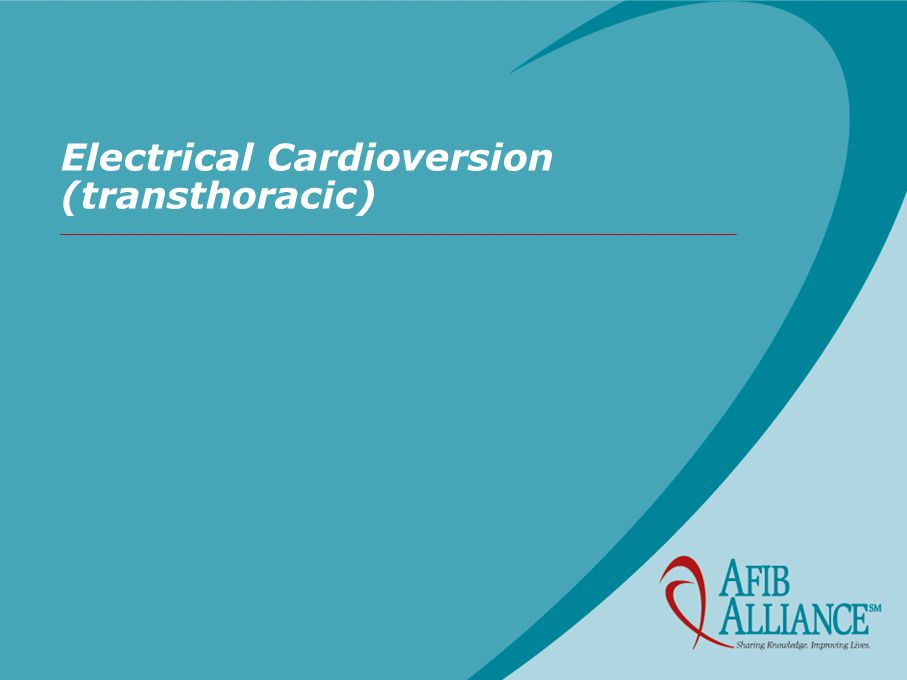 Electrical Cardioversion (transthoracic)