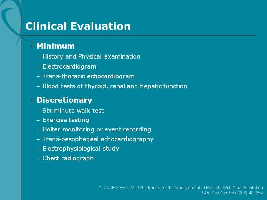 Clinical Evaluation Minimum Discretionary