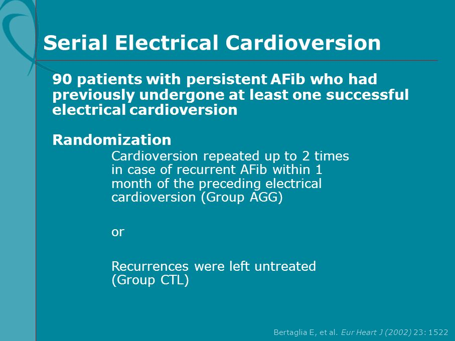 Serial Electrical Cardioversion