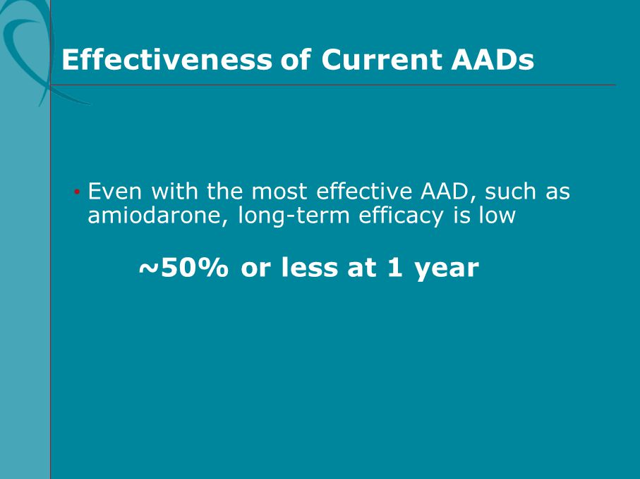 Effectiveness of Current AADs