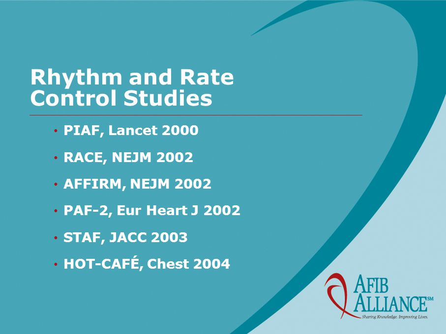 Rhythm and Rate Control Studies