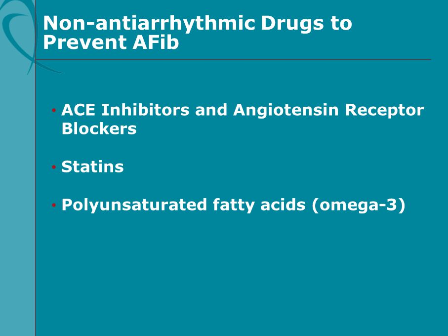 Non-antiarrhythmic Drugs to Prevent AFib