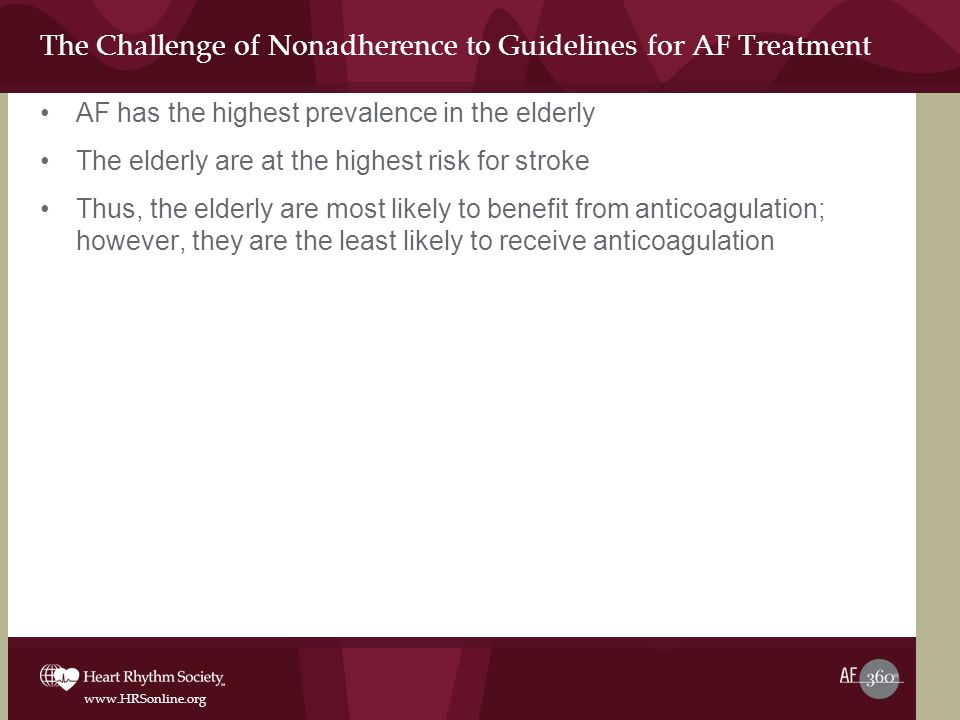 The Challenge of Nonadherence to Guidelines for AF Treatment