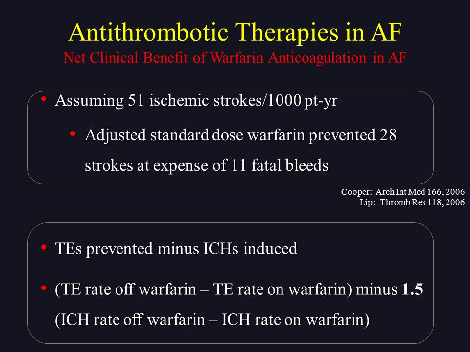 Antithrombotic Therapies in AF