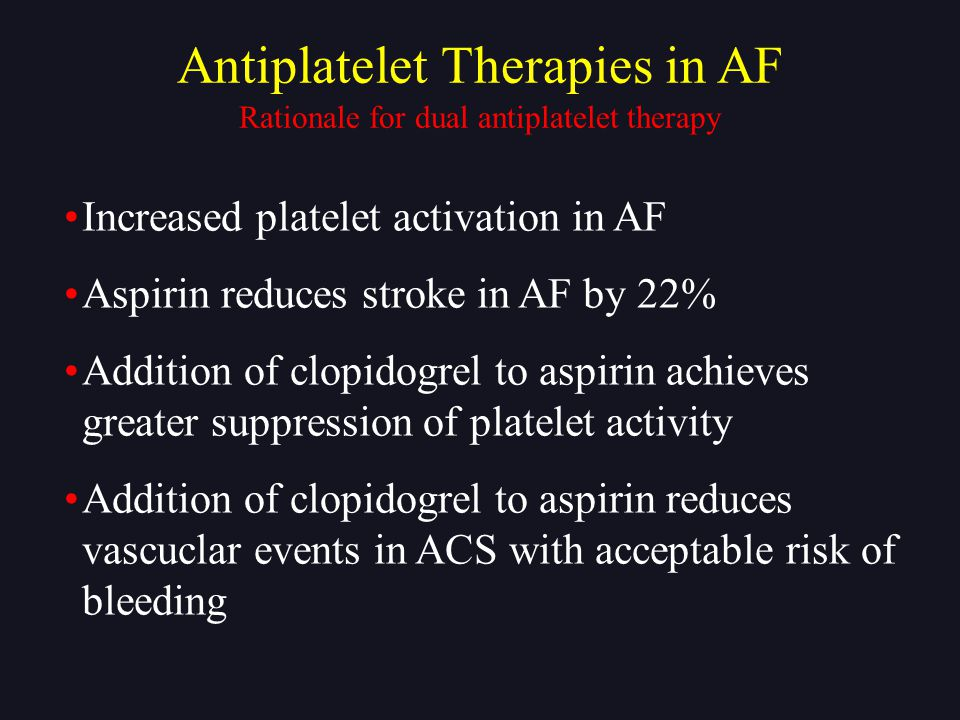 Antiplatelet Therapies in AF